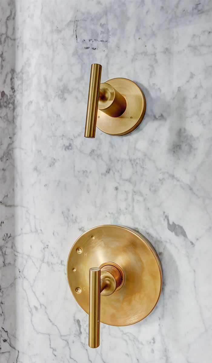 Shower Detail in Gold